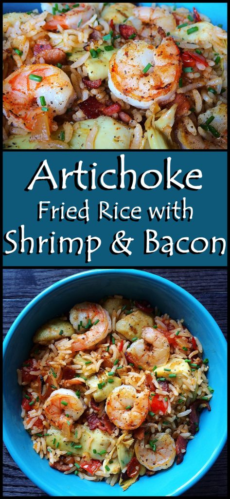Artichoke Fried Rice with Shrimp and Bacon